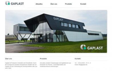 Gaplast mit neuem Internet-Auftritt
