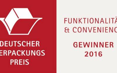 Gaplast – Winner of the German Packaging Award 2016!