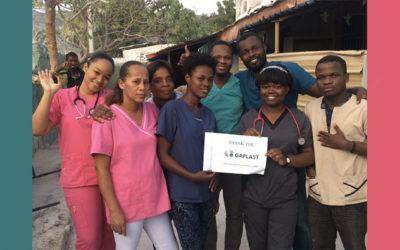 Mobile Klinik auf Haiti (Help 2 Haiti) unterstützt durch Gaplast
