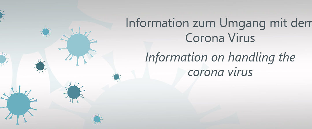 Information on handling the corona virus