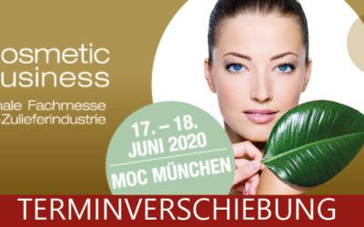 Die CosmeticBusiness 2020 findet nicht wie geplant im Juni statt