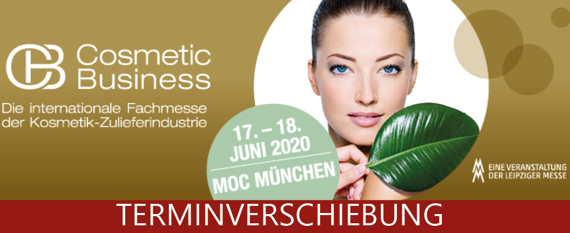 Terminverschiebung Cosmetic Business 2020